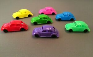 Lot of 7 PEZ Volkswagen 1:72 Scale VW Bugs Italy Plastic Used In Good Condition
