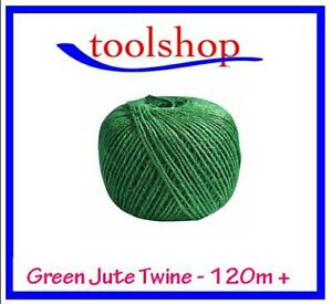 Green Jute, Twine Garden String 120+ metres of Garden Plant Tying Jute