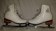 KYU Figure Ice Skates Women's Girls SIze 195 In Sook Lee Insook