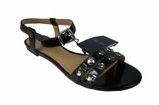 ARMANI JEANS Damen,Women,Sandalen,Schuhe,Shoes,SchwarzBlack,,Leder, Größe 37