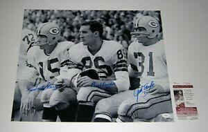 1960 PACKERS Bart Starr Jim Taylor Boyd Dowler signed 16x20 photo AUTO JSA COA
