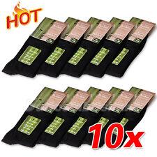 10 Pairs Black Men Bamboo Socks Fibre Comfortable Healthy Natural Odor Resistant