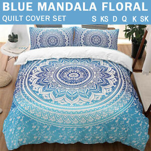 Oriental Mandala/Doona/Duvet/Quilt Cover Set Single/Double/Queen/King Size Bed
