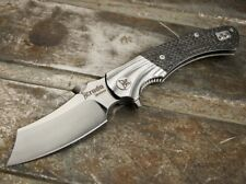 Krudo Dao Carbon massif couteau de poche flipper BIG folder