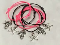 6 PIRATE THEME FRIENDSHIP BRACELETS BIRTHDAY PARTY BAG FILLERS, GIFT PRIZE FAVOR