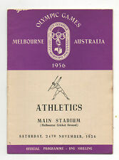 Orig.PRG   Olympic Games MELBOURNE 1956 // ATHLETIC 24.11  -  with 5 Final`s  !!
