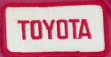 Ecusson thermocollant Toyota brodé des années 80's - Jamais porté