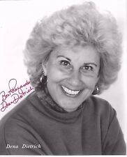 DENA DIETRICH Autographed Signed B&W Photo 8x10 GOLDEN GIRLS THE PRACTICE. RARE