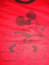 Medium Mickey Mouse Red Ringer Tee Shirt NWT Disney Store
