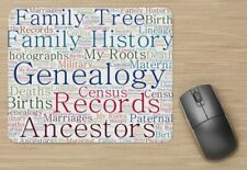 Genealogy Themed Mousepad Mouse Pad -