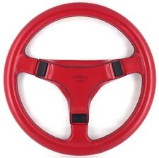 Genuine Italvolanti Nivola 370mm red leather steering wheel. Very rare!    8D
