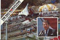 """Ronald Reagan"" 1982 World's Fair Postcard"