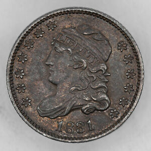 1831 CAPPED BUST HALF DIME H10C SILVER CHOICE AU ABOUT UNCIRCULATED (3111)