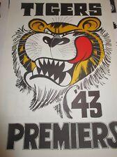 1943 Richmond Football Club VFL Premiers : Official Weg Art Premiers Poster