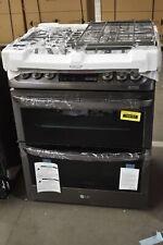 """Lg Ltg4715Bd 30"""" Stainless Double Oven Slide-In Gas Range Nob #104157"""