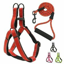Dog Harness Leash Set Reflective Adjustable Softs Diving Lining Walking Pet
