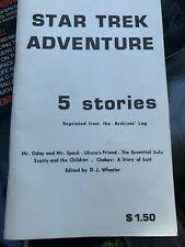 "Vintage Star Trek Adventure"" 5 stories"