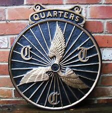 CTC Cast Aluminium Sign Cycle Touring Club Vintage style Large Wall Plaque VAC40