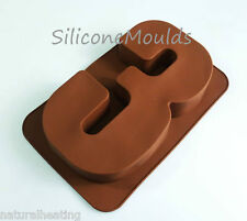 LARGE NUMBER THREE 3 SILICONE BIRTHDAY CAKE MOULD BAKEWARE PAN TIN BAKING MOLD