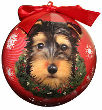 Yorkie (Puppy Cut) Christmas Ball Ornament Dog Holiday Xmas Yorkshire Terrier