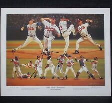 Atlanta Braves Baseball 1995 World Series Champs Alan Zuniga Baseball Lithograph