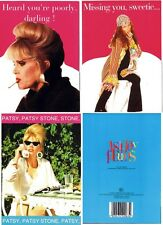 Ab Fab Absolutely Fabulous Get Well / Miss You 3 Card Set Patsy & Edina