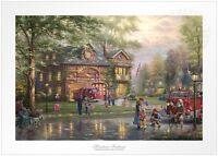 Thomas Kinkade Studios Hometown Firehouse 12 x 18 G/P Unframed LE Paper
