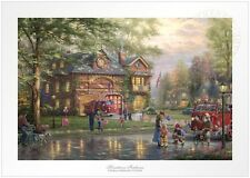Thomas Kinkade Studios Hometown Firehouse 12 x 18 S/N Limited Edition Paper