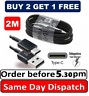 2M Samsung S8 S9 S10 TYPE C Cable USB-C Fast Charger Genuine Data Sync Lead