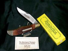 Remington Pump Knife Hunter's 1990's 11-87 Auto Inscribed Blade Packaging,Papers
