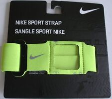 NIKE Sport Strap Band Unisex One Size Adjustable Bolt/Black-New