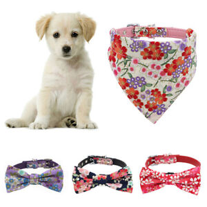 EG_ Adjustable Pet Dog Puppy Flower Detachable Bow Tie Collar Neckerchief Bandan