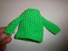 Vintage Skipper / Francie Size Bright Green Knit Sweater