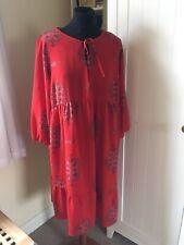 Next Maternity Red Floral Dress Sz 14