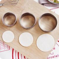 3Pcs Dumpling Wrapper Cutter Mold Stainless Steel Round Dumpling Maker Tool DIY