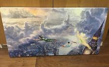 "Thomas Kinkade Disney Peter Pan 16"" X 31"" Canvas"
