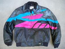Vtg Hein Gericke Polaris Leather Snowmobile Indy Racing Men's Jacket Size Large