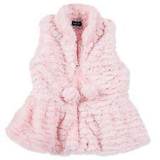 Mud Pie Baby Girl Pink Fur Vest, Medium (2T-3T)