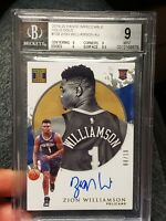 🏀 2019 IMPECCABLE HOLO GOLD ZION WILLIAMSON BGS 9 ROOKIE AUTOGRAPH AUTO /10 🏀