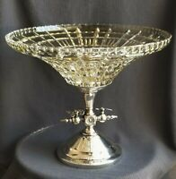 J W Tufts Antique silver plate BUTTERFLY FIGURAL  bride basket epergne compote