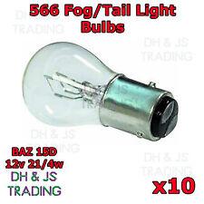 10 x 566 Brake Stop Tail Fog Light Bulbs Reverse Car Auto Bulb BAZ 15D 12v 21/4w