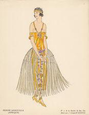 Femme Amaguilla (Afrique) Pochoir Gazette de Bon Ton 1922 Mode ART DECO