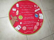 Sugar Cookies Recipe Round Red Placemat Embroidered Design by St.NicholasSquare