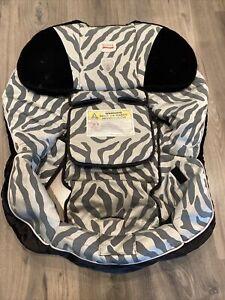 Britax Boulevard Car Seat Carseat Cover Fabric Replacement Silver Zebra