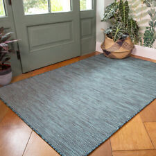 Teal Outdoor Rug Plastic Washable Porch Rugs Water Resistant Garden Patio Mats