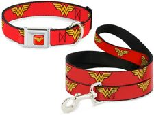 Buckle Down Seatbelt Dog Collar or Leash Wonder Woman DC Comics - Made in USA