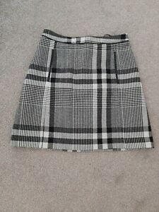 OASIS black and white lined check skirt size 12