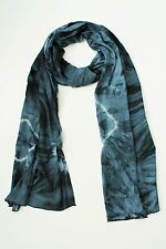 BRAND NEW HANDMADE EXTRA LONG BLUE GREY TIE DYE SCARF SARONG FREE POST / SCL008