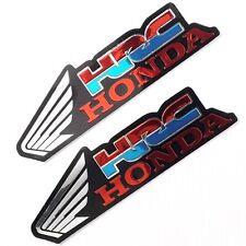 2PC. SILVER HRC HONDA WING DECAL REFLECTIVE STICKER DIE-CUT FOIL EMBOSS CAR BIKE