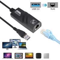 Für PC 10/100/1000Mbit RJ45 USB3.0 zu Gigabit Ethernet Lan Adapter Netzwerkkarte